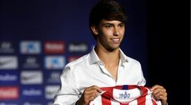 Hace un año de la presentación de Joao Félix como jugador del Atleti. AFP/Archivo