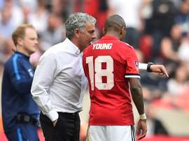 Ashley Young says Manchester United must bounce back against Valencia. AFP
