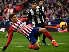 Antoine Griezmann on the mark again for Atletico