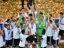 Germany beat Chile to lift the Confederations Cup trophy. AFP