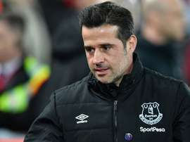 Marco Silva could be dismissed as Everton manager later on Thursday. AFP