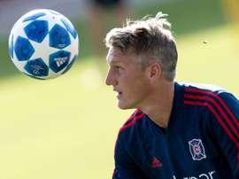 Schweinsteiger is back in Munich for his testimonial. AFP
