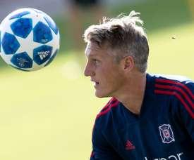 Schweinsteiger jugará un año más en los Chicago Fire. AFP