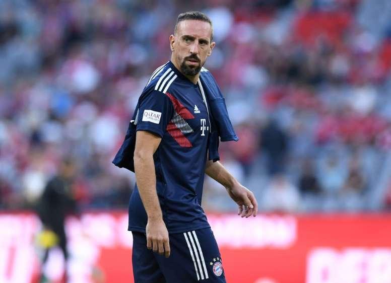O Bayern praticamente disse adeus a Ribéry. AFP