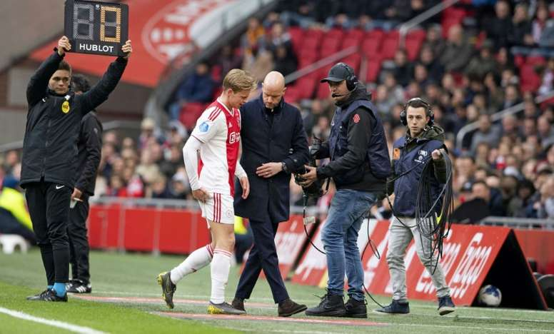 De Jong's presence in squad list for Turin suggests injury not as serious as initially thought. AFP