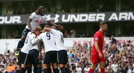 Wanyama ha jugado tres temporadas en el Tottenham. AFP