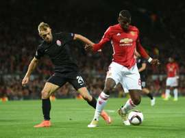 Manchester United beat Zorya 1-0 in the recent Europa League fixture. AFP