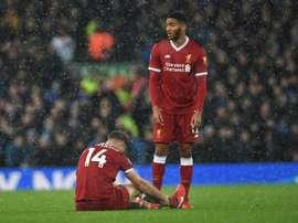 Al Liverpool le ha podido pasar factura el derbi de Merseyside. AFP/Archivo