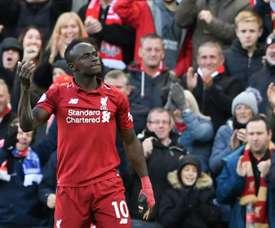 El atacante del Liverpool tiene la Liga de Campeones entre ceja y ceja. AFP