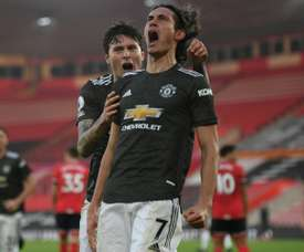 Edinson Cavani was the hero as Man Utd won 2-3 at Southampton. AFP