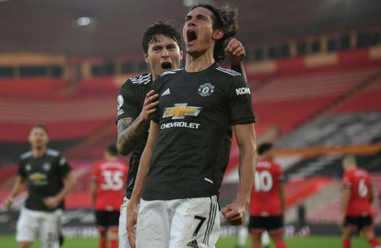 Cavani proves his worth to Man Utd in time for PSG reunion. AFP