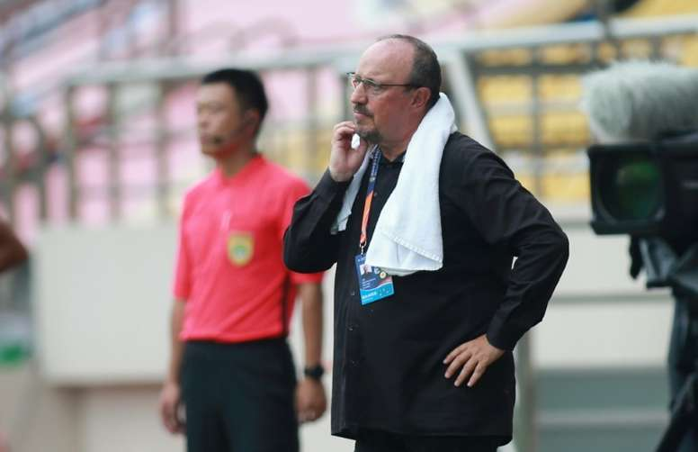 Benitez kept his side up. AFP