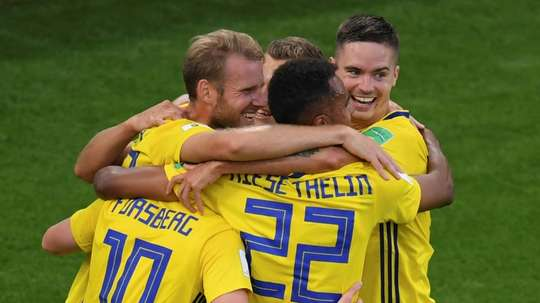 Sweden will face off against Switzerland on Tuesday in the last 16. AFP