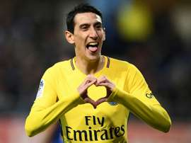 Di Maria impressed ahead of the game against Real Madrid. AFP