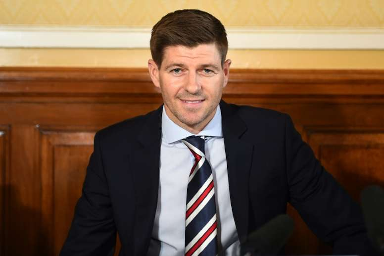 Gerrard won his first competitive game as Rangers manager. AFP