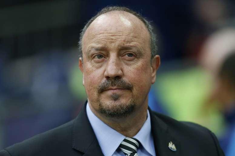 El Newcastle espera anunciar la renovación de Benítez en breve. AFP