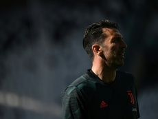 Buffon has broken the appearance record. AFP