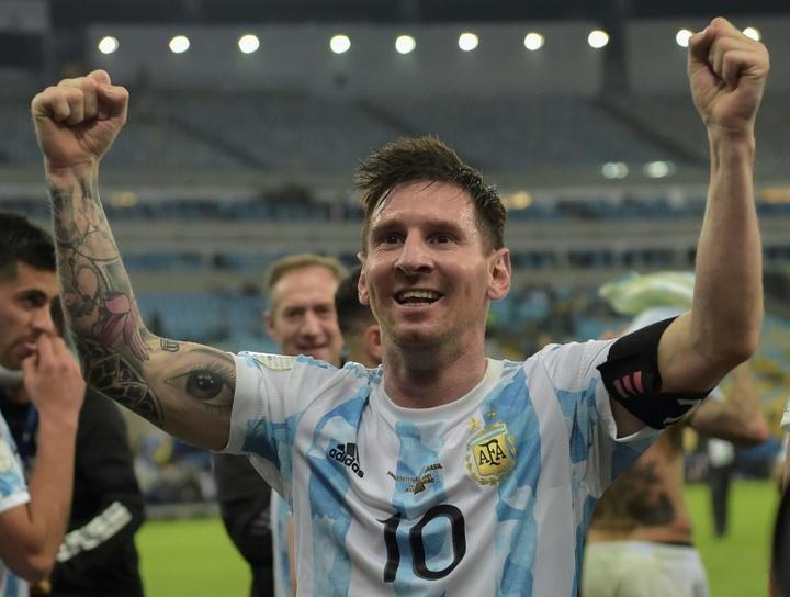 Messi est candidat à un septième Ballon d'Or. AFP