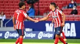 Simeone insists that Suarez is unselfish. AFP