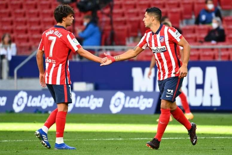 Joao Félix y Luis Suárez apuntan a ser protagonistas. AFP/Archivo