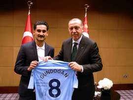 Gundogan was controversially photographed with Erdogan. AFP