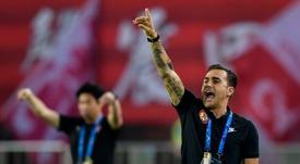 Lippi, ayudante de Cannavaro en China. AFP