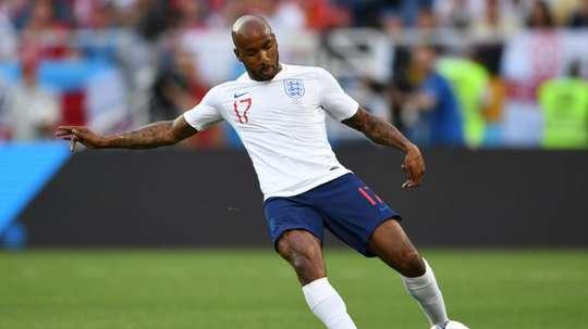Fabian Delph starts for England against Switzerland. AFP