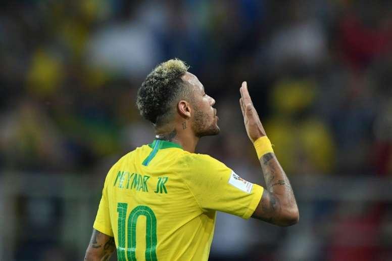 Le don de la Seleçao de Neymar. AFP