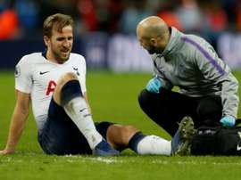 Kane injured his ankle against Manchester United. AFP