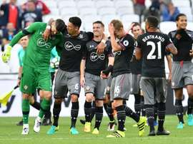 El Southampton cosechó una cómoda victoria ante el colista de la Premier. AFP