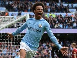 Sane is currently the fastest player in England's top flight. AFP
