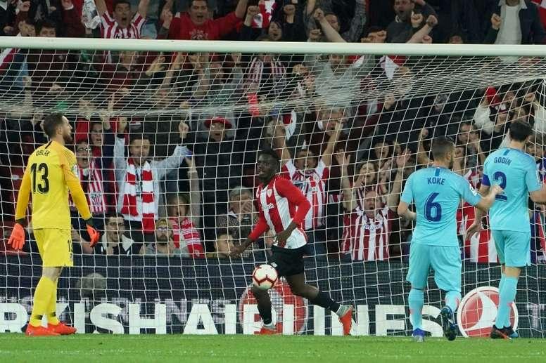 El Atleti se deja la Liga en Bilbao. EFE