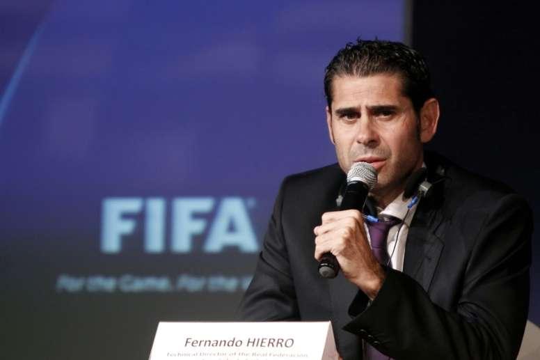 Hierro est le nouveau sélectionneur de l'équipe d'Espagne. AFP