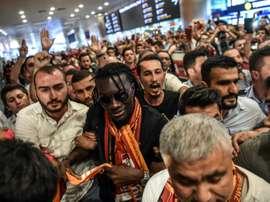 La recrue française de Galatasaray Bafétimbi Gomis à Istanbul. AFP