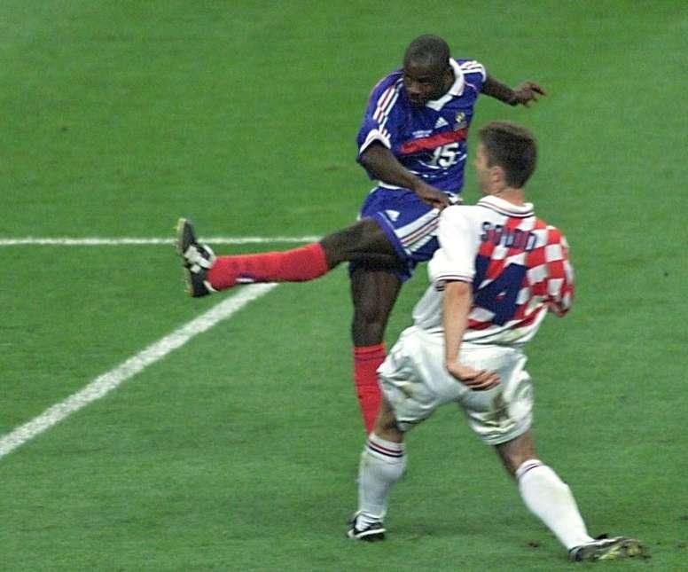 Thuram inscrit le second but français face aux Croates. AFP