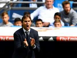 Julen Lopetegui lors de la défaite à domicile face à Levante. AFP