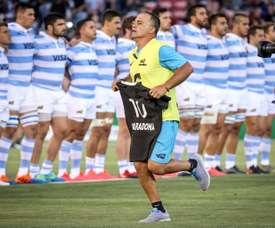 Diego Maradona, aux stades des hommages. AFP
