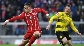 James seguirá en el Bayern. AFP