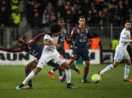 Luiz Gustavo lors du match contre Montpellier. AFP