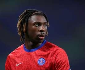 Moise Kean se blesse et rentre à Paris. AFP