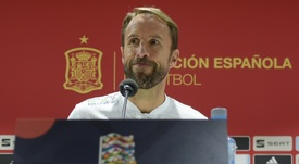 Southgate pictured at his press conference in Sevilla. AFP