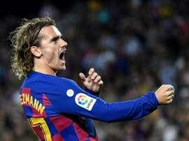 Le Barça se qualifie difficilement à Ibiza grâce à Griezmann. AFP