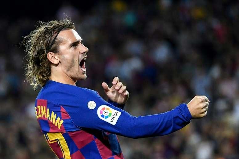 Griezmann already emulates Messi. AFP