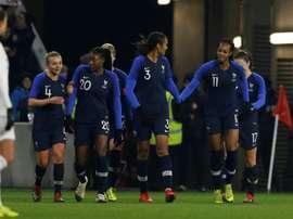 Les Bleues restent sur une victoire de prestige sur les Etats-Unis. AFP