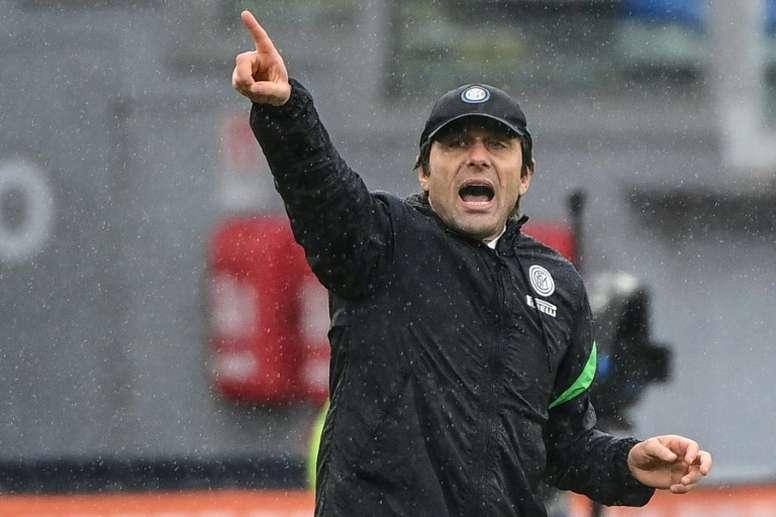 Antonio Conte ha cambiado de la noche a la mañana de parecer con Eriksen. AFP/Archivo