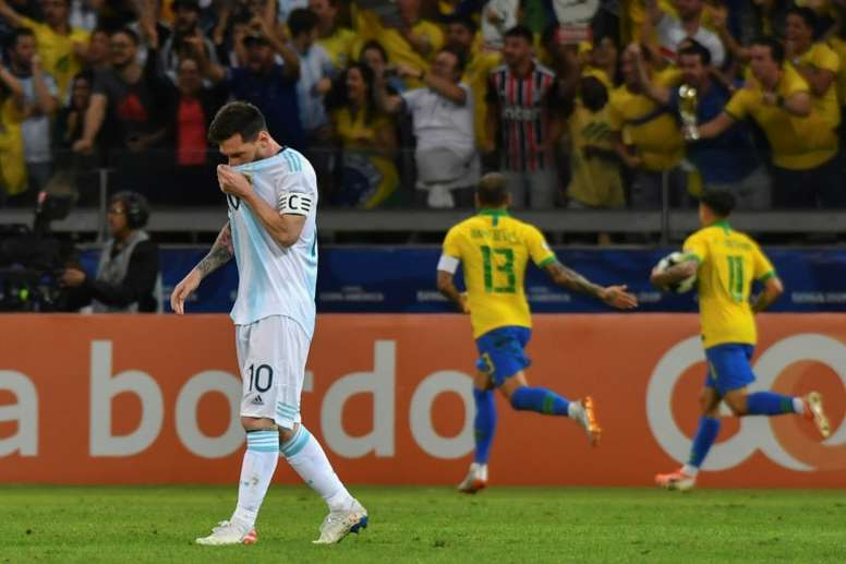 Messi has been criticised after Argentina's defeat against Brazil. AFP