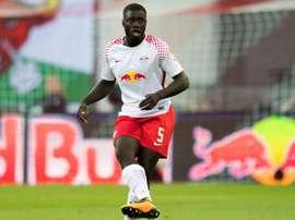 Upamecano revient sur sa prolongation avec le RB Leipzig. afp