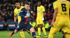 Verratti évoque la Ligue 1. AFP