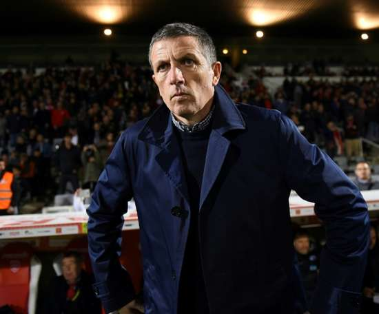 Thierry Laurey fait appel à l'amour des supporters du Racing. AFP