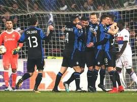 Bergame et Milan finissent premiers de leur groupe respectif. AFP